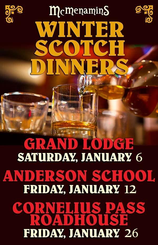 Winter Scotch Dinners